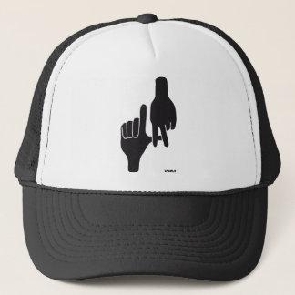 LOS ANGELES LA HAND SIGN TRUCKER HAT