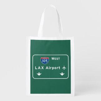 Los Angeles LAX Airport I-105 W Interstate Ca -
