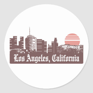 Los Angeles Linesky Round Sticker