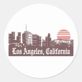 Los Angeles Linesky Round Sticker