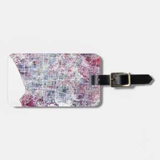 Los Angeles map California watercolor painting Luggage Tag