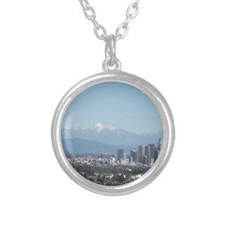 Los Angeles Round Pendant Necklace