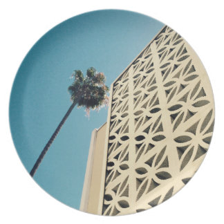 Los Angeles Palm & Architecture Melamine Plate