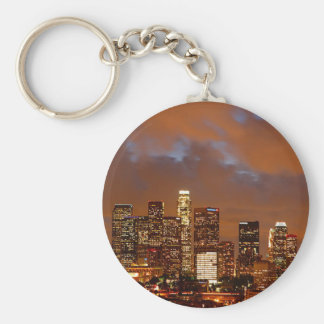 Los Angeles Red Skies Basic Round Button Key Ring