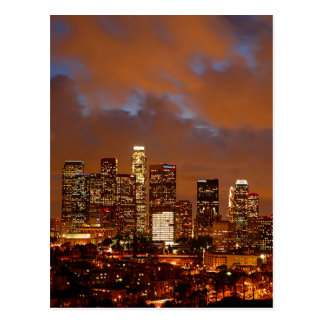 Los Angeles Red Skies Postcard