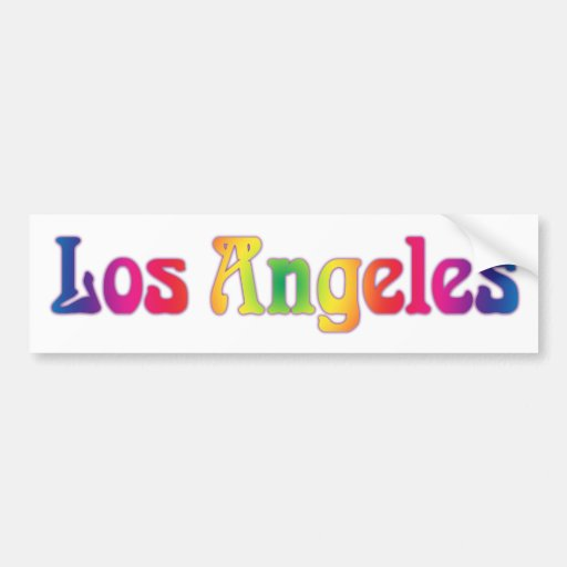 Los Angeles Retro Rainbow Logo Bumper Sticker