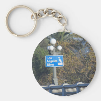 Los Angeles River Bridge Basic Round Button Key Ring