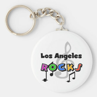 Los Angeles Rocks Basic Round Button Key Ring