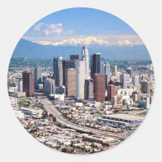 Los Angeles Round Sticker