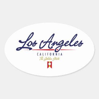 Los Angeles Script Oval Sticker