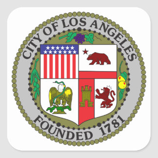 Los Angeles Seal Square Sticker
