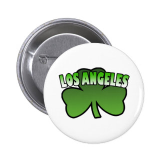 Los Angeles Shamrock Button