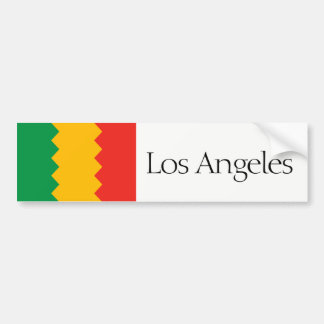 Los Angeles simplified city flag bumper sticker