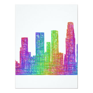Los Angeles skyline 17 Cm X 22 Cm Invitation Card