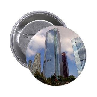 Los Angeles Skyline 6 Cm Round Badge