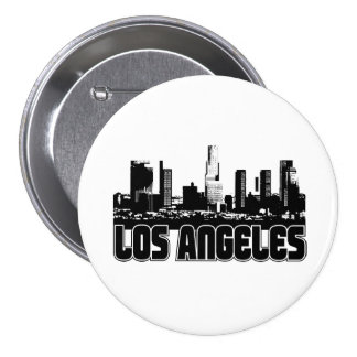 Los Angeles Skyline 7.5 Cm Round Badge