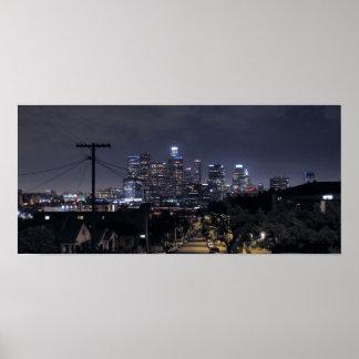 Los Angeles Skyline at Night 2 Poster