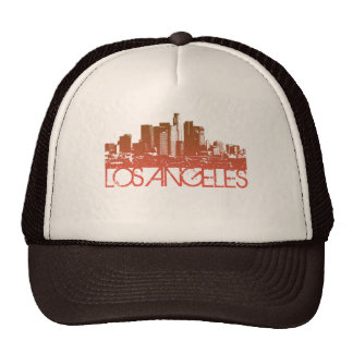 Los Angeles Skyline Design Trucker Hat
