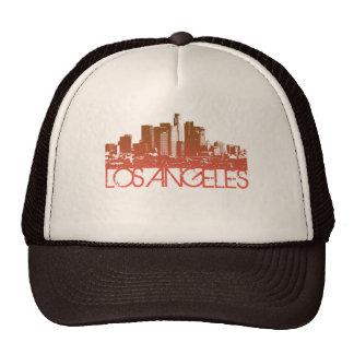 Los Angeles Skyline Design Mesh Hat