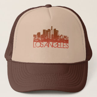 Los Angeles Skyline Design Trucker Hat
