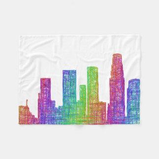 Los Angeles skyline Fleece Blanket