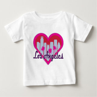 Los Angeles Skyline Heart T Shirt