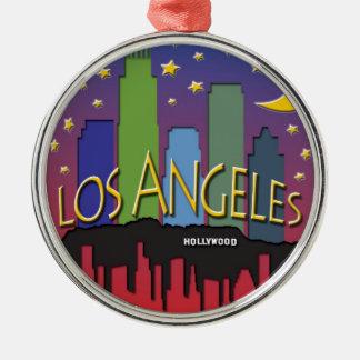 Los Angeles Skyline nighlife Christmas Ornament