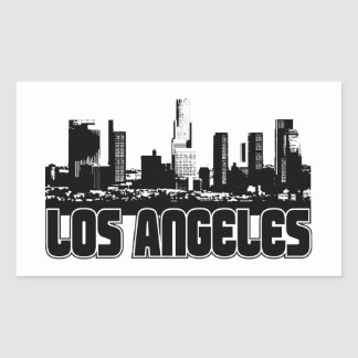 Los Angeles Skyline Rectangular Sticker