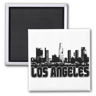 Los Angeles Skyline Square Magnet