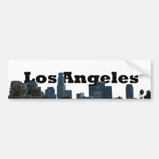 Los Angeles Skyline with Los Angeles in the Sky Car Bumper Sticker