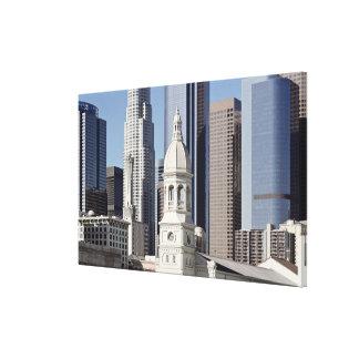 Los Angeles skyscraper buildings at midday Canvas Print