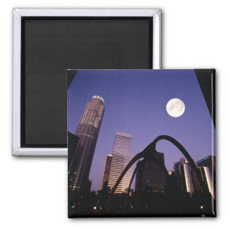 Los Angeles Skyscrapers Square Magnet