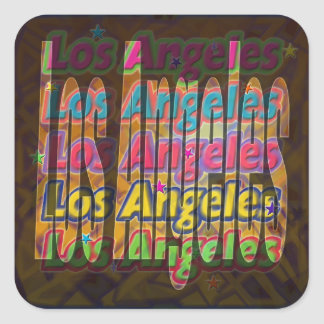Los Angeles Sparkle Sticker