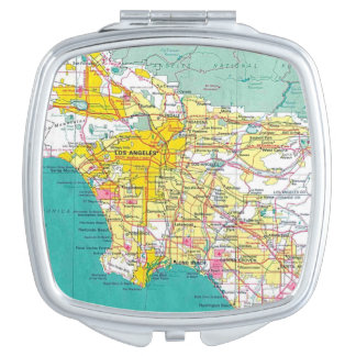 Los Angeles Square Compact Travel Mirror