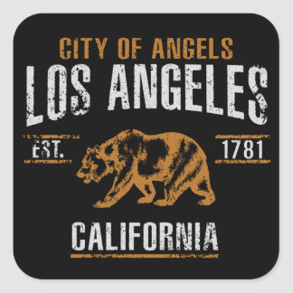 Los Angeles Square Sticker