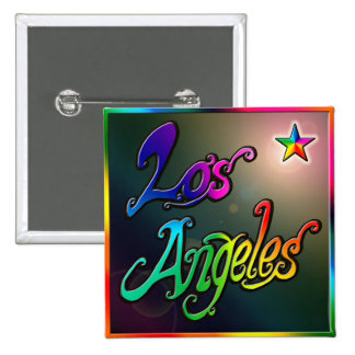 """Los Angeles Star 1"" Button"