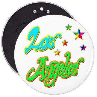 """Los Angeles Star 2"" Button"