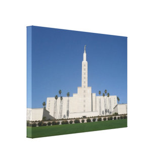 LOS ANGELES TEMPLE WRAPPED CANVAS PRINT