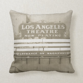 Los Angeles Theatre Sign Throw Pillows