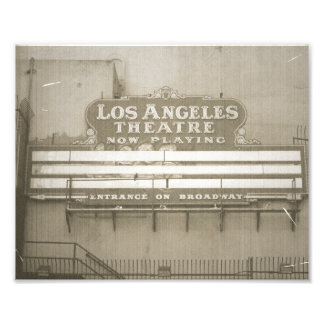 Los Angeles Theatre Sign Photo Print
