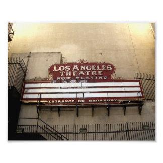 Los Angeles Theatre Vintage Sign Photo Art