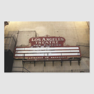 Los Angeles Theatre Vintage Sign Rectangular Sticker