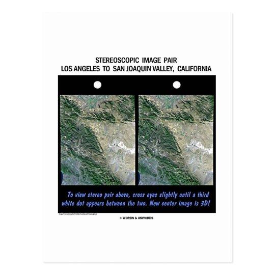 Los Angeles To San Joaquin Valley, California Postcard