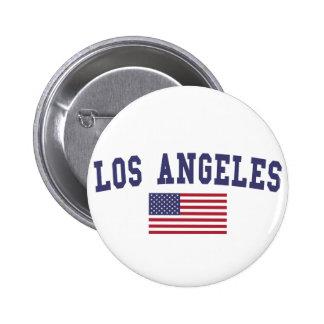 Los Angeles US Flag 6 Cm Round Badge