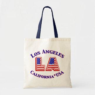 Los Angeles USA Patriotic Canvas Tote Canvas Bags