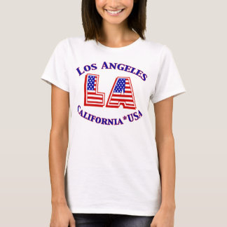 Los Angeles USA Patriotic Logo T-shirt