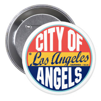 Los Angeles Vintage Label Pinback Button