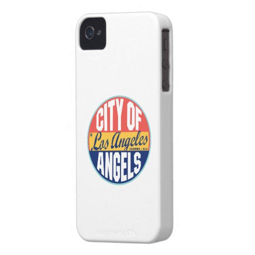 Los Angeles Vintage Label iPhone 4 Case
