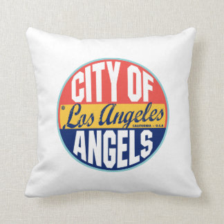 Los Angeles Vintage Label Pillows