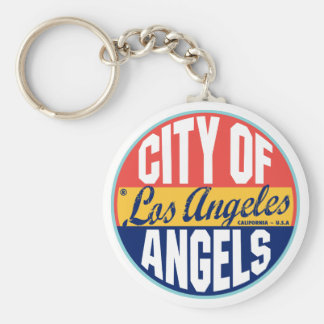 Los Angeles Vintage Label Key Ring